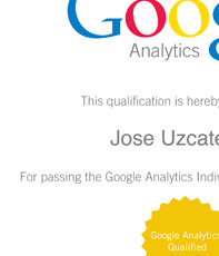Passed the Google Analytics Individual Qualification Exam!!!