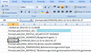 Referencing Cells in Excel with Next Analytics V5
